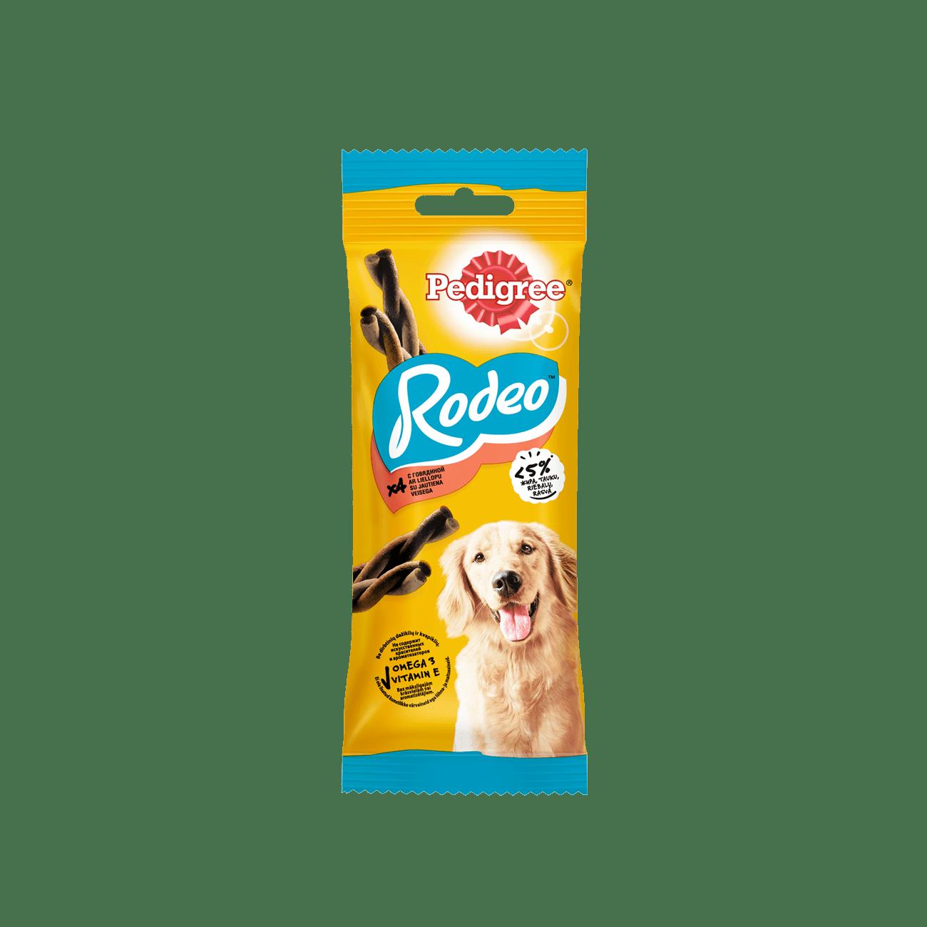 PEDIGREE® Rodeo™ мясные косички, лакомство для взрослых собак всех пород